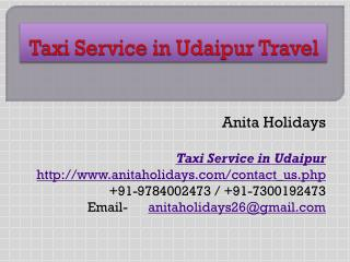 Taxi Service in Udaipur Travel