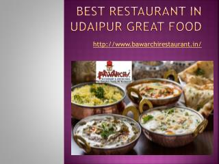 Best Restaurant in Udaipur Great Food