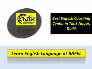 Best Spoken English Institute in Tilak Nagar