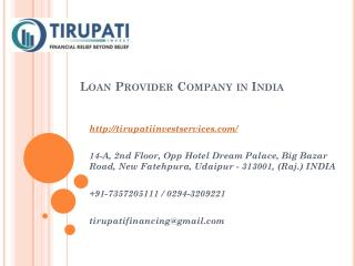 Loan Provider Company in India