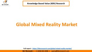 Global Mixed Reality Market Size and Share (2017-2023)