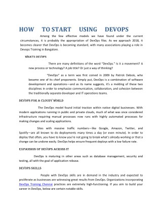 Devops the beginers
