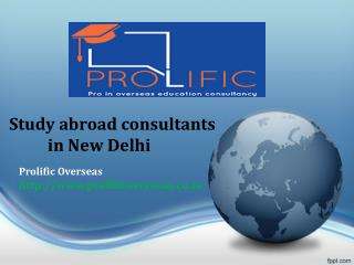 Study Abroad Consultants in New Delhi