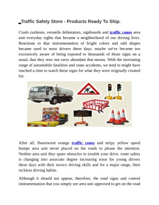 Traffic Safety Store - Products Ready To Ship Trafficrus.co.nz