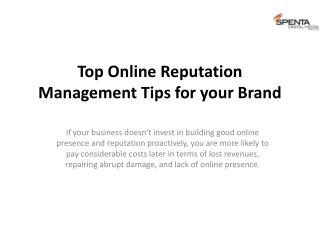 Top Online Reputation Management Tips for your Brand