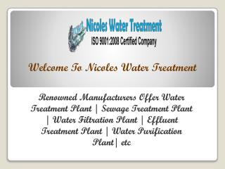Waste Water Treatment Plant in Delhi