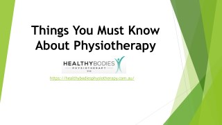 How to Prepare for a Physiotherapy? Things You Must Know About Physiotherapy.
