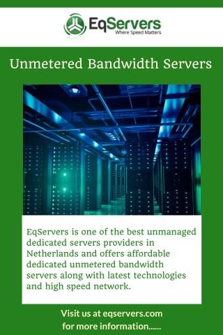 Unmetered Bandwidth Servers
