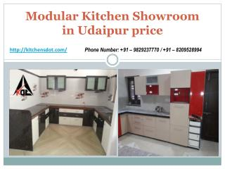 Modular Kitchen Showroom in Udaipur price