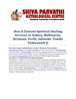 Best, Famous & Top Spiritual healing services in Sydney, Melbourne, Perth, Brisbane, Adelaide