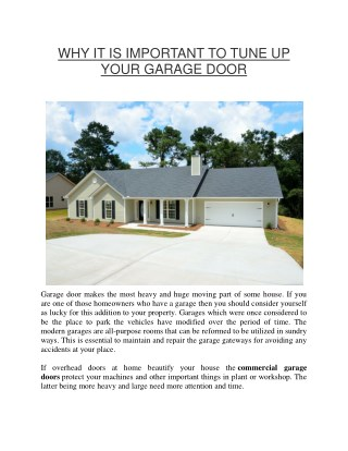Improve your home's look with residential garage doors