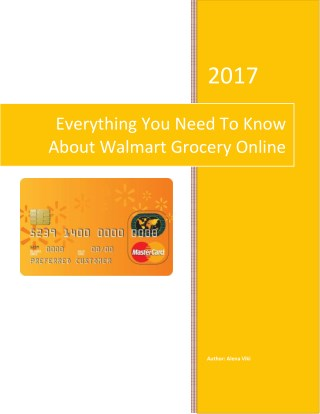 Every Thing You Need To Know About Walmart Grocery Online