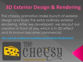 3D Exterior Design & Rendering