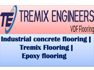 Industrial concrete flooring | Tremix Flooring | Epoxy flooring