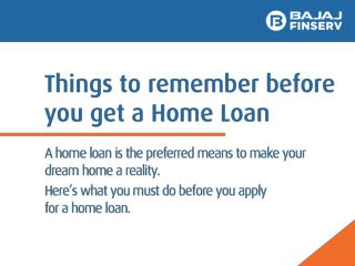 What to Do to Get a Home Loan in India