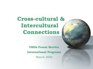 Cross-cultural &        Intercultural         Connections