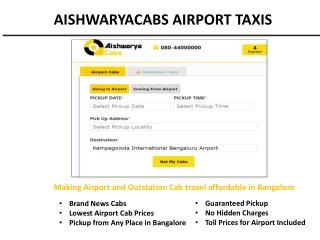Bangalore Airport Cabs Book Online – Aishwarya Cabs