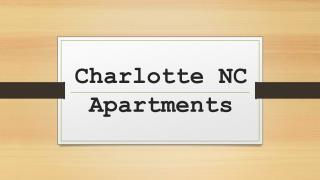 Charlotte NC Apartments