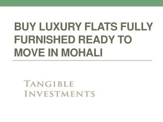 Buy Luxury flats Fully Furnished Ready to Move in Mohali