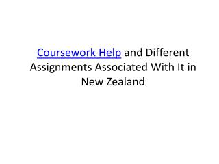 Coursework Help and Different Assignments Associated With It