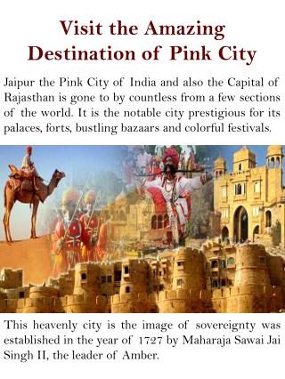 Visit the Amazing Destination of Pink City