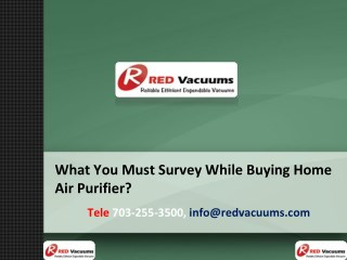 What You Must Survey While Buying Home Air Purifier?