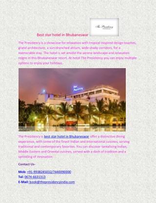Best star hotel in Bhubaneswar