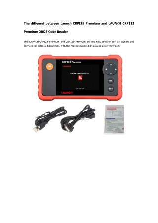 The different between Launch CRP129 Premium and LAUNCH CRP123 Premium OBD2 Code Reader