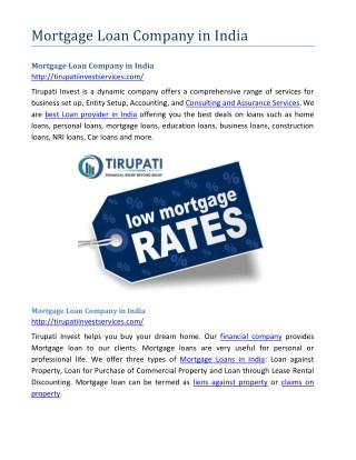 Mortgage loan company in india