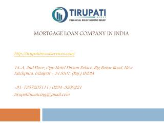 Mortgage Loan Company in India