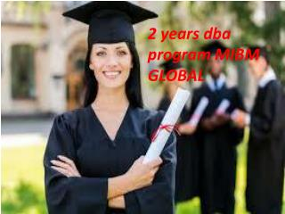 2 years dba postgraduate programs in India