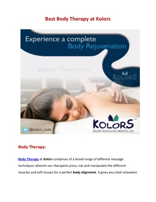Body therapy services   Body therapy massage   Body therapy wellness center