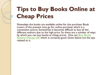 Tips to Buy Books Online at Cheap Prices