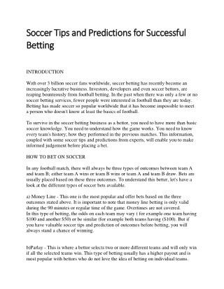 My Profitable Football Accumulator Tips