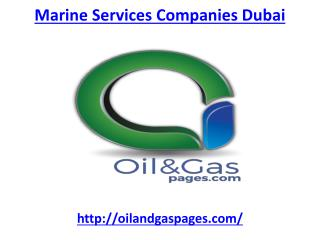 Get Marine services companies in Dubai