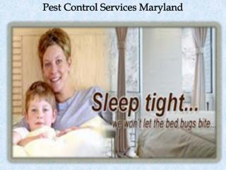 Pest Control Services Maryland