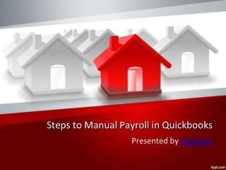 Steps to Manual Payroll in QuickBooks