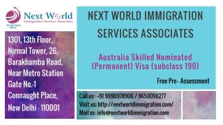 Australia Visa Consultants in Delhi - Australia Skilled Nominated Visa Program