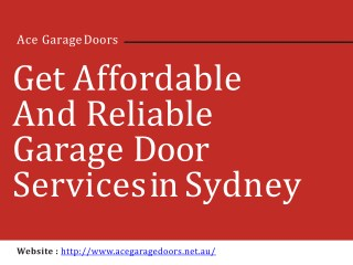 Get Affordable and Reliable Garage Door Services in Sydney