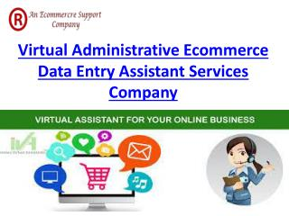 Virtual Administrative Ecommerce Data Entry Assistant Services Company