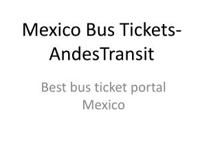 Mexico bus tickets