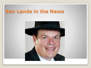 Ben Landa in the News