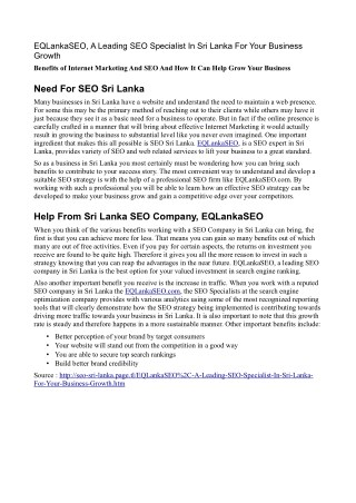 Leading SEO Specialist In Sri Lanka