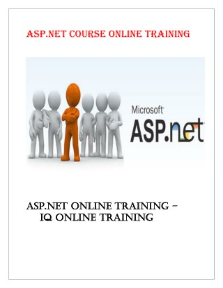 ASP.NET training | VB, MVC.NET online training course USA - IQ Online Training