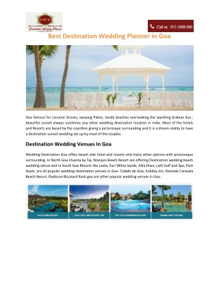 Best Destination Wedding Planner in Goa
