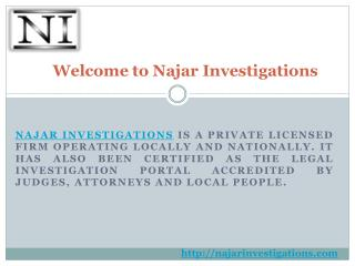 Najar Investigations - The Legal Process Services Provider in Murrieta, CA