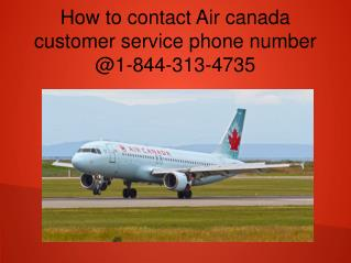How to contact air canada airlines ticket booking phone number?