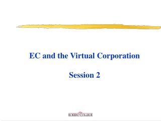 EC and the Virtual Corporation Session 2