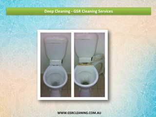 Deep Cleaning - GSR Cleaning Services