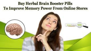 Buy Herbal Brain Booster Pills to Improve Memory Power from Online Stores